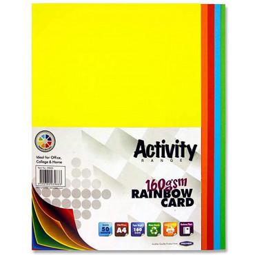 A4 Coloured Card Pk 50