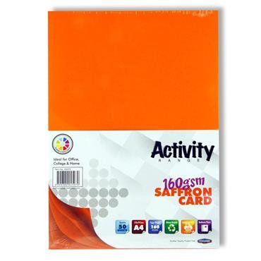 A4 Activity Card 50 Sheets Saffron