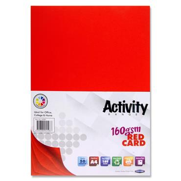 Activity Card Red 50Sheets A4