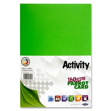 A4 Activity Card 50 Sheets Parrot