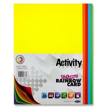 A2 Coloured Card Pk 25