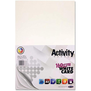 A2 White Card Pk 25