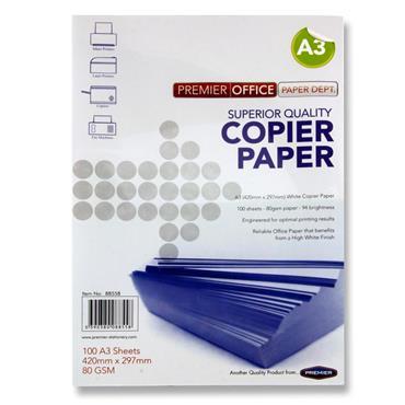 A3 Copier Paper White 100 Sheets