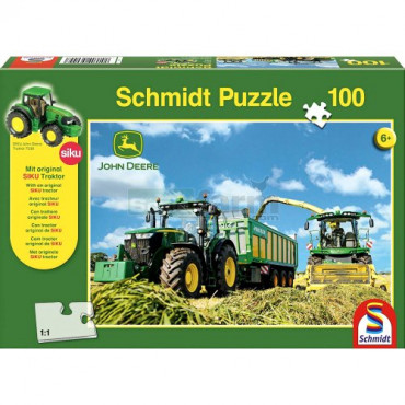 John Deere Tractor and Harvester Puzzle 100pc
