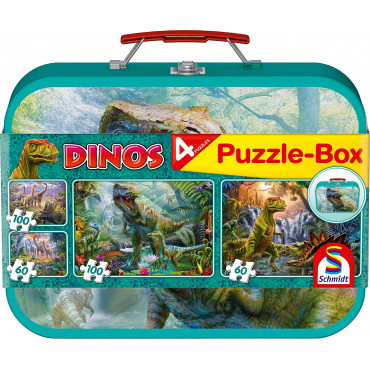 Dinosaurs Four Jigsaws In Keepsake Tin