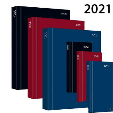 2021 A5 Diary - Page A Day Fancy 4 Asst
