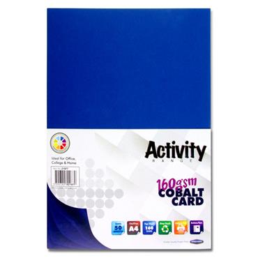 A4 160Gsm Card 50 Sheets Cobalt