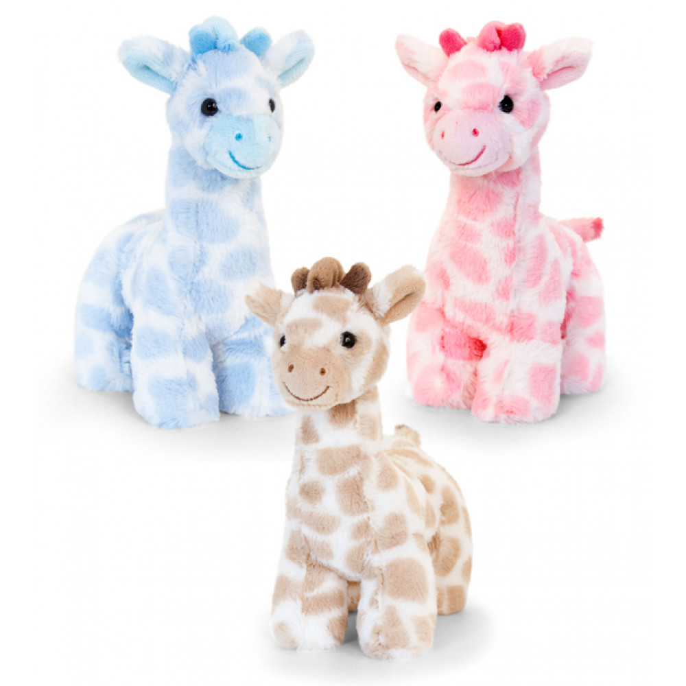 Teddy Snuggle Giraffe 18Cm Assorted