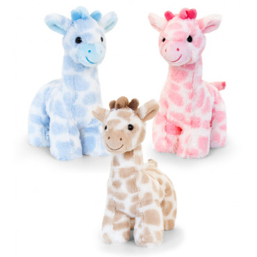 Teddy Snuggle Giraffe 18Cm Assorted