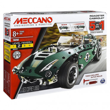 Meccano Road Vehicle With Pull Back Motor