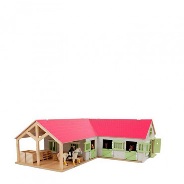 1:24 HORSE STABLE WITH 4 STORAGE BOXES & WASH BOX