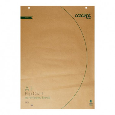 A1 40 Sheets Perforated Flip Chart Recycled