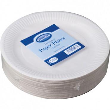 Paper Plates 23Cm 100Pk