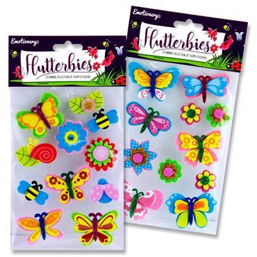 3D Flutterbies Foam Stickers Butterflies & Flows