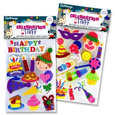 3D Celebration Stuff Foam Stickers Happy Birthd.