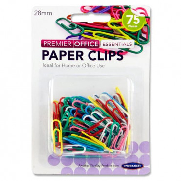 Paper Clips Coloured Pk75