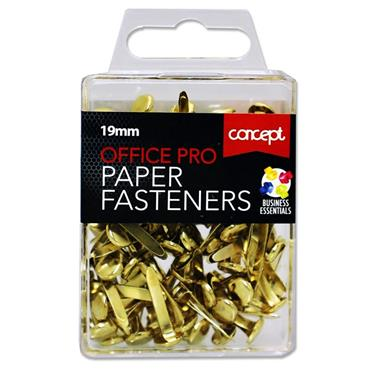 Box 100 19mm Office Pro Paper Fasteners