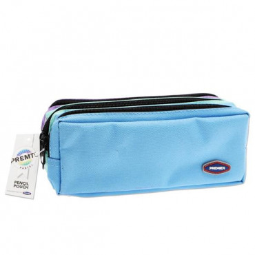 3 Pocket Pencil Case Pastel