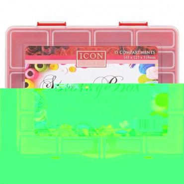 Craft 15 Compartment Storage Box 2 Asst