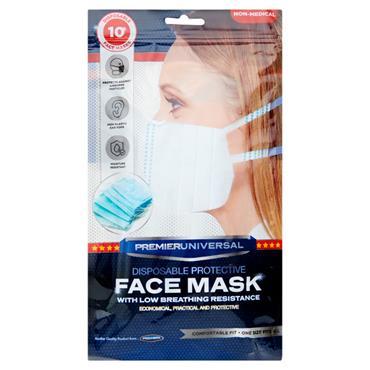 Face Masks Disposable Pk10