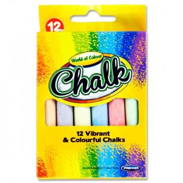Coloured Chalk Box 12
