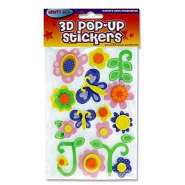 3D Pop Up Foam Stickers Morning Flowers 2 Asst.
