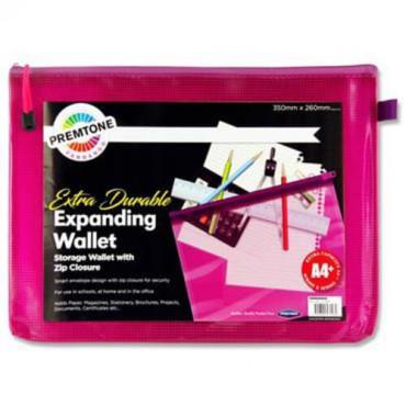 A4+ Mesh Wallet Fandango Pink Extra Durable