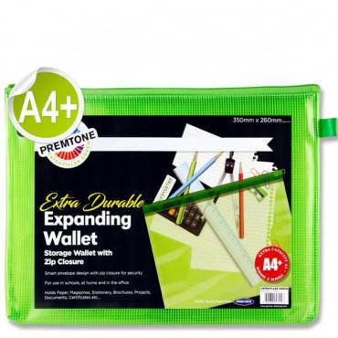 A4+ Mesh Wallet Green Extra Durable
