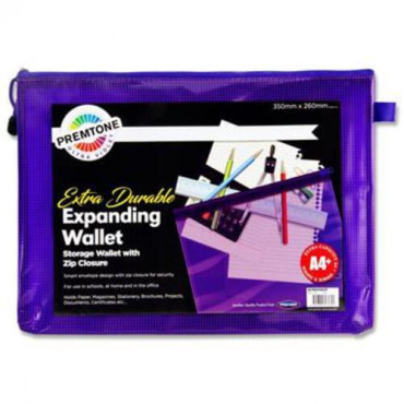 A4+Mesh Wallet Violet Extra Durable