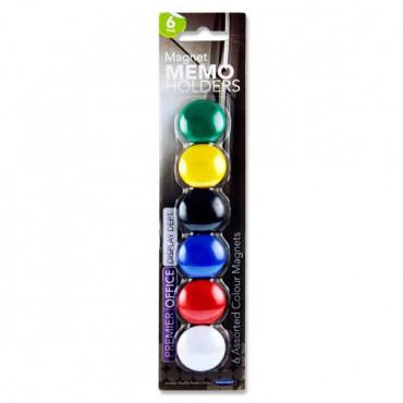 Magnetic Memo Holders Pk 6