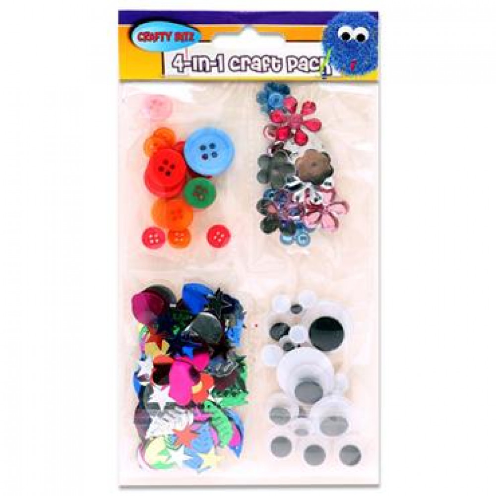 Craft Pack 4 In 1 Crafty Bitz