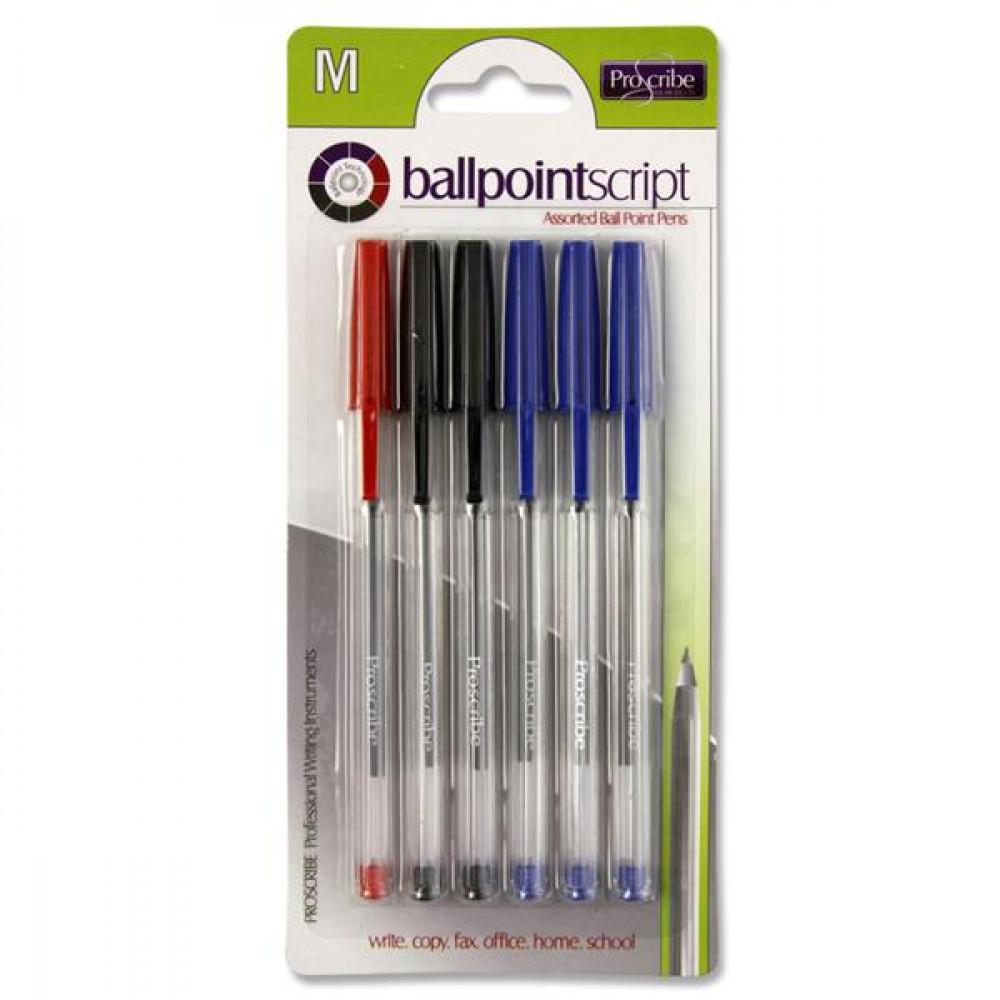 Ballpoint Pen Card 6 Assorted