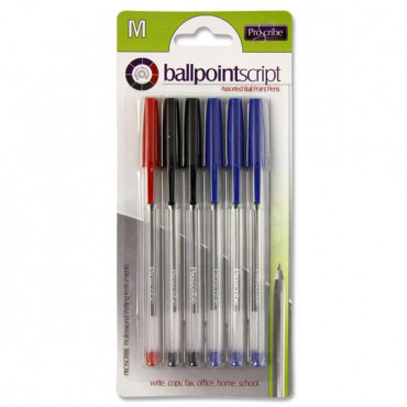 Ballpoint Pen Card 6 Assorted