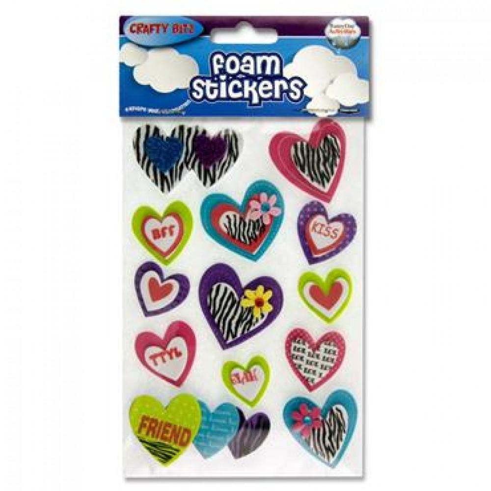 3D Foam Stickers Hearts