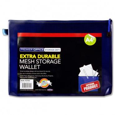 A4+ Mesh Wallet Blue Depths Extra Durable