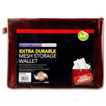 A4+ Mesh Wallet Rhubarb Extra Durable