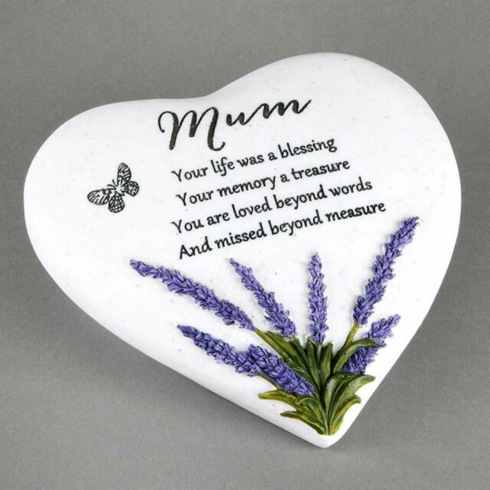 Memorial Heart Stone Mum Thoughts of You