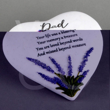 Memorial Heart  Stone Dad Thoughts of  You