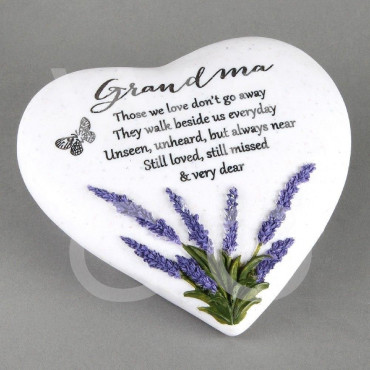 Memorial Heart Stone Grandma Thoughts of You