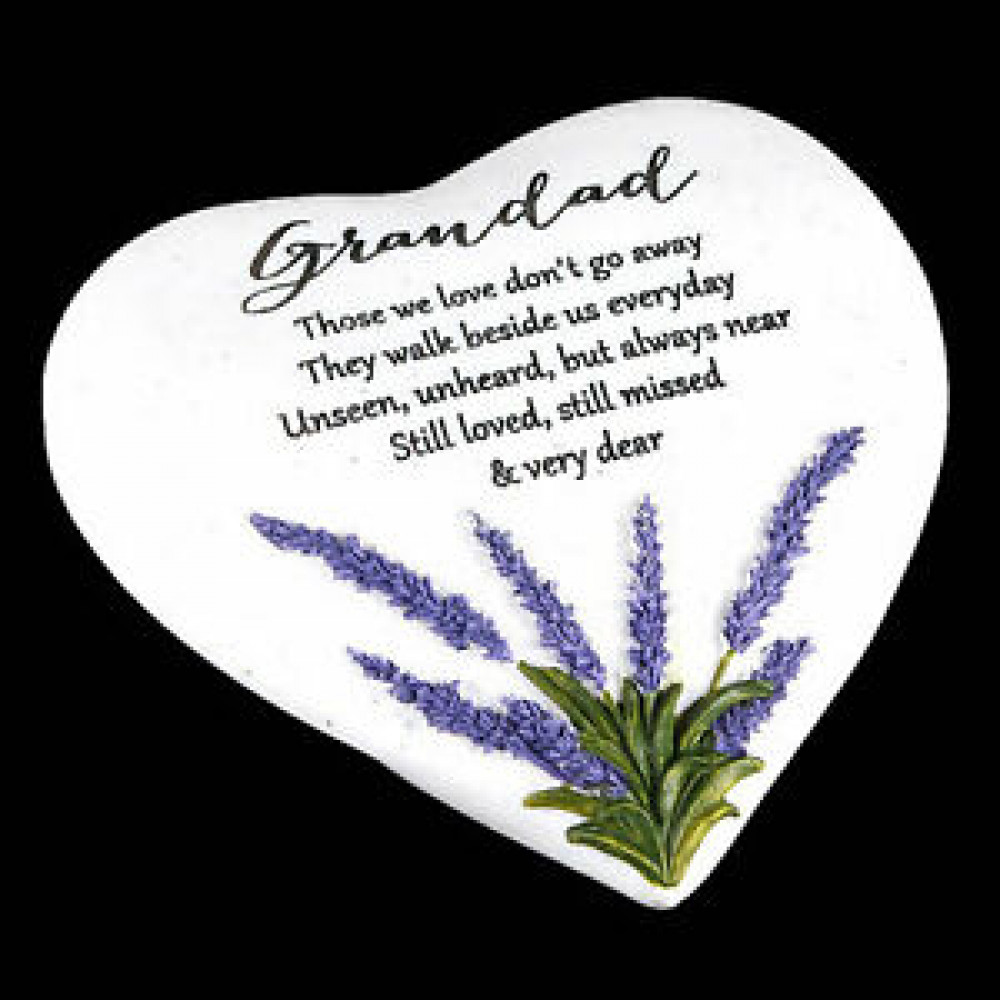 Memorial Heart Stone Grandad Thoughts of Y