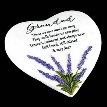 Memorial Heart Stone Grandad Thoughts of Y