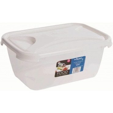 Food Box 2Lt Rect Clear/Ice White