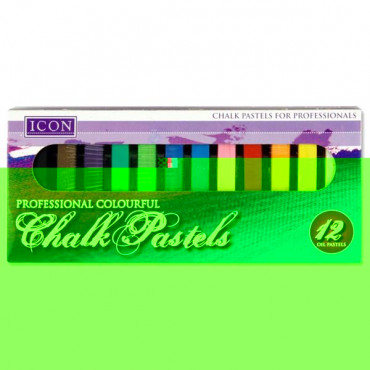 Pastel Chalk 12 Assorted Colours