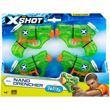 X Shot Nano Drencher 4 Pk